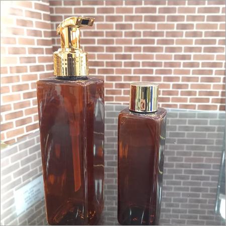 100-200 ml Amber Square Pet Bottle