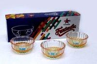 Bowl Set 3 Pcs Crystal Deco Fancy Box