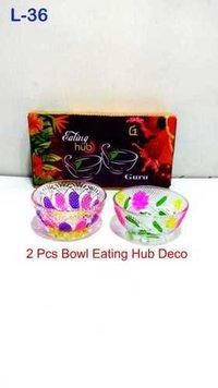 Bowl Set 2 Pcs Kanthi Tulip Bowl/fanta Deco Fancy Box