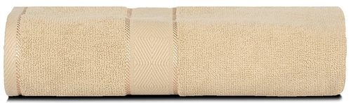 Divine Overseas Natural Ring-spun Double Ply Cotton Yarn, Soft, Extra Absorbent And Durable, Quick-dry Elysian Bath Towel (Beige)