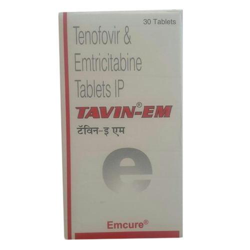 TAVIN EM TABLET (Emtricitabine (200mg) + Tenofovir disoproxil fumarate (300mg)