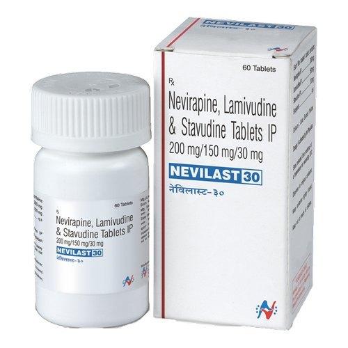 Nevilast 30 Tabletlamivudine (150mg) + Zidovudine (300mg) + Nevirapine (200mg)