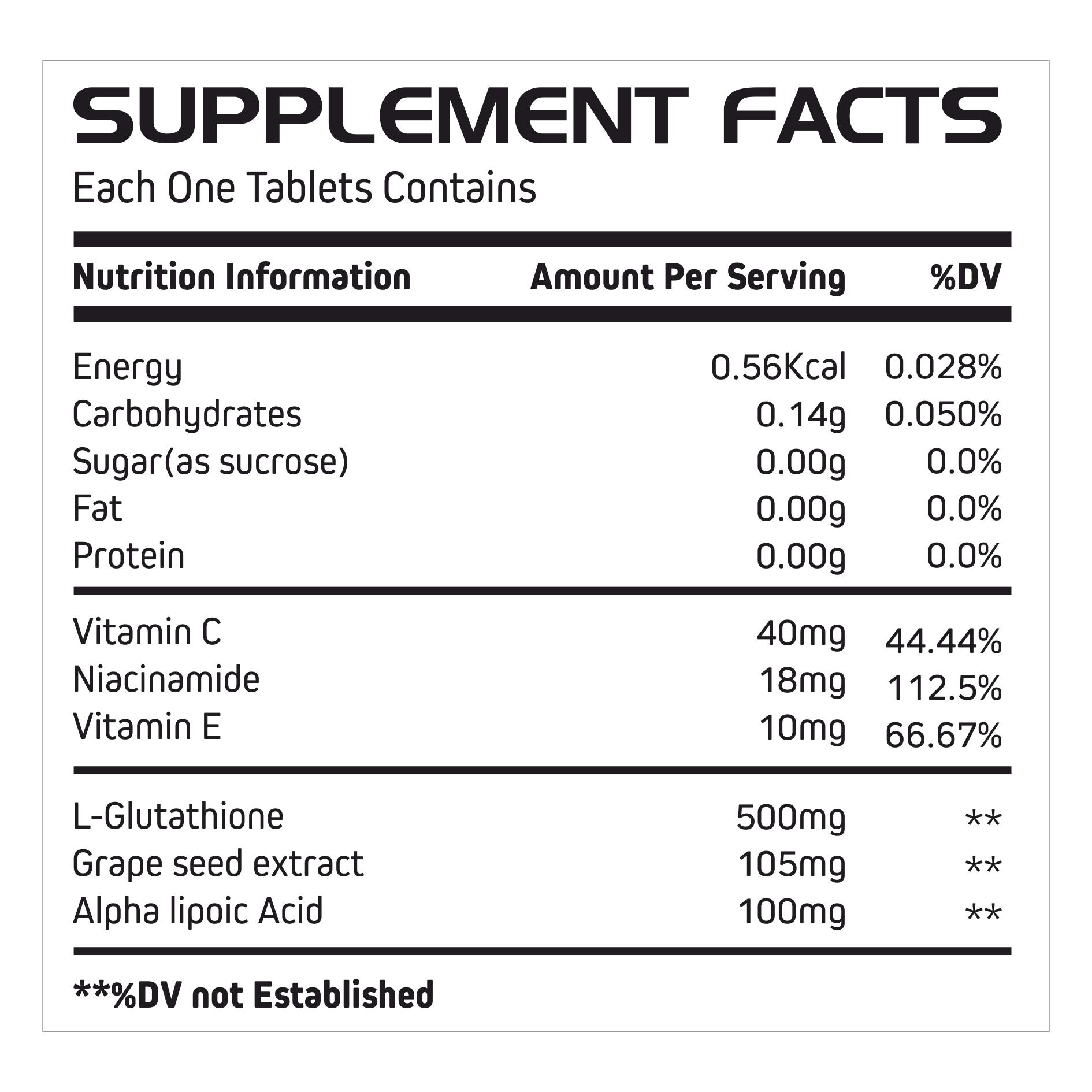 Glutathiaone Tablets