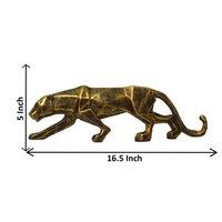 Metallic Color Polyresin Panther, Jaguar Statue