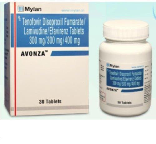 AVONZA TAB (Lamivudine (300mg) + Tenofovir disoproxil fumarate (300mg) + Efavirenz (400mg)