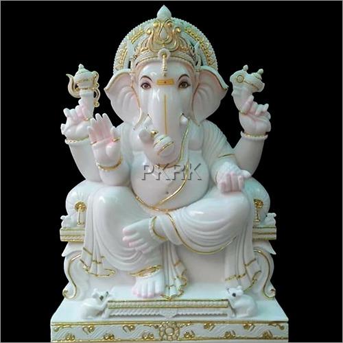 Marble White Ganesh Statue