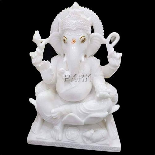 Marble White Vighnaharta Ganesh Statue