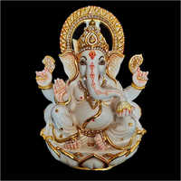 Marble Color Ganpati Statue