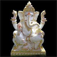 Marble Designer Ganesha Statue