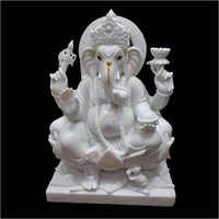 Marble White Bal Ganesha Statue