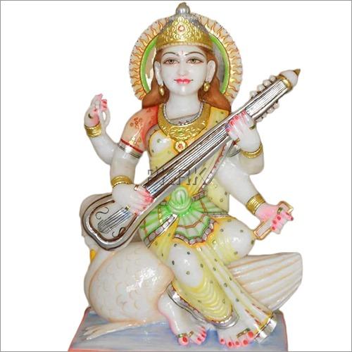 Marble Color Saraswati Statue