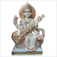 Marble Divine Saraswati Statue