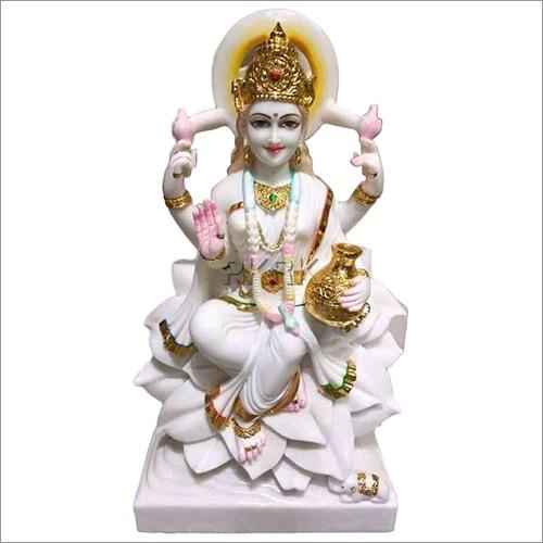 Marble White Divine Laxmi Statue