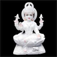 Marble White Seating Laxmi Statue