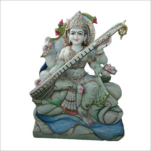 Marble Fancy Maa Saraswati Statue