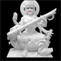 Marble White Maa Saraswati Statue