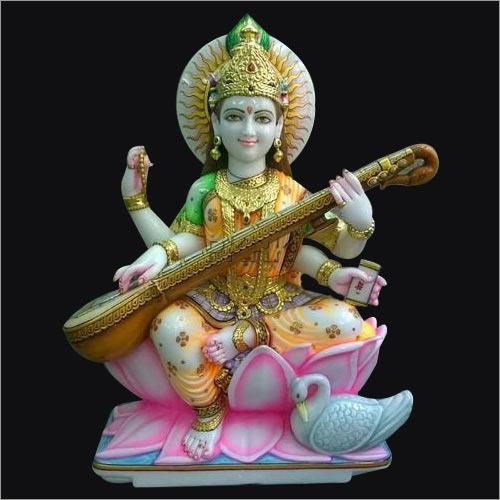 Marble Color Maa Saraswati Statue