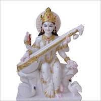 Marble Hindu Saraswati Statue
