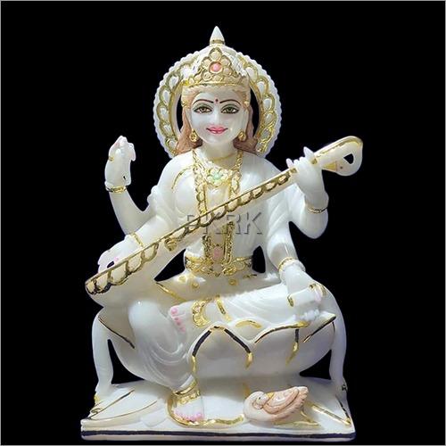 Marble Dust Saraswati Statue