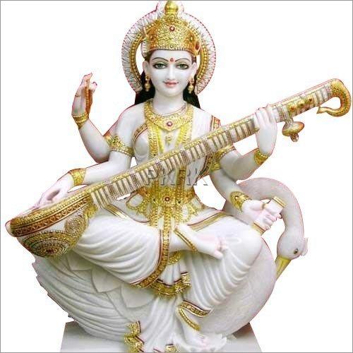 Marble Dust Saraswati Devi Statue