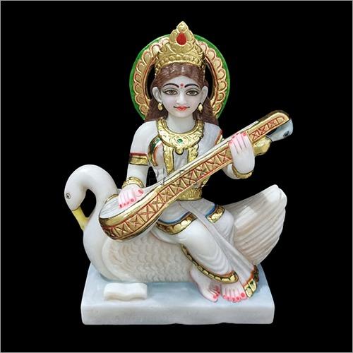 Marble Goddess Saraswati Devi Statue
