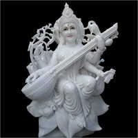Marble White Goddess Saraswati Devi Statue