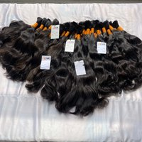 Virgin remy bulk raw unprocessed human hair bundle