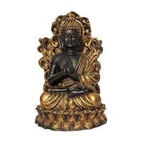 Antique Look Lord Buddha Sitting On Singhasan Idol Statues