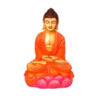 Meditating Buddha Statue Sitting On Lotus