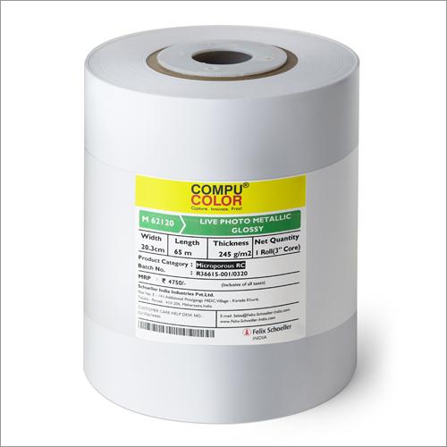 Live Photo Metallic Glossy Dry Minilab Paper Roll