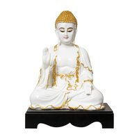 Marble Look  Lord Buddha Polyresin Statue