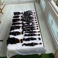 Raw unprocessed virgin cuticle aligned indian bulk human hair
