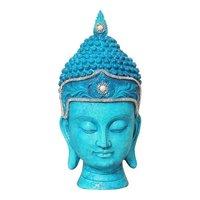 Colorful Buddha Head Figurines
