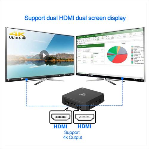 Min Pc Win 10 APOLLO Lake J3455 4GB/64GB With VESA Mount Portable MINI PC 4GB 64GB