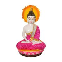 Resin Lord Buddha Statue With Energy Circle Background