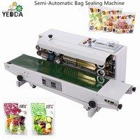 FR-900 Bag Sealing Machine Film Bags Heat Sealing Machine Continuous Band Sealer Machine