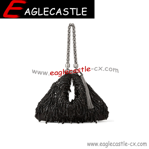 Fashion female lady black shoulder crossbody women bag bucket hobo sequin handbag