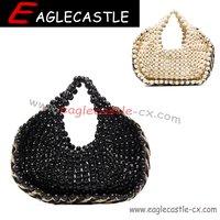 Hot fashion beading tote bags wedding part handbags for ladies bridal beaded clutch bag