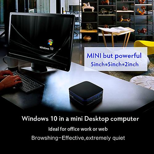 Mini PCs Intel J3455 HD Graphics500 Windows 10 DDR3 4GB SSD 64GB mini pc