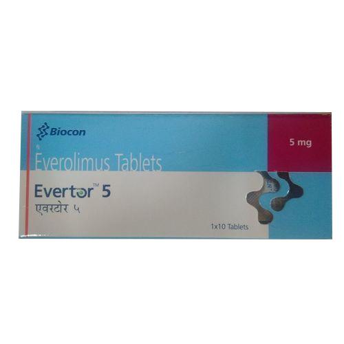 Evertor 5mg Tablet (Everolimus (5mg)