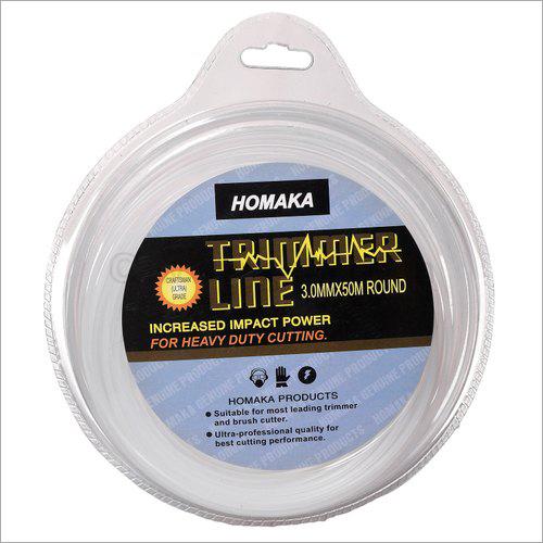 Homaka Trimmer Line I 3mm 50 Mtr Round White