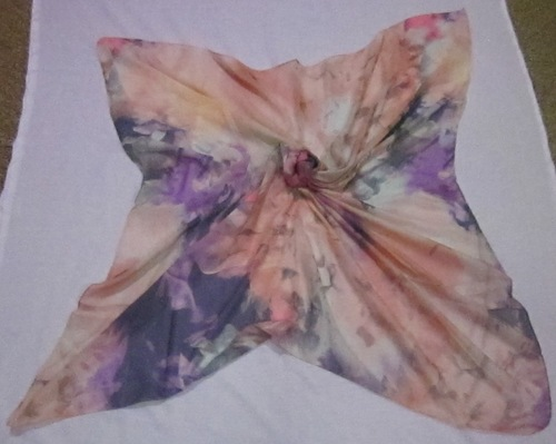 Voile Printed Square Scarves-100x100