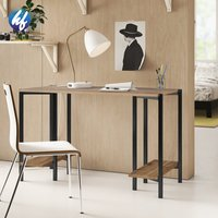 Factory Office Desk Modern Computer Desk Pc Table Metal And Wood 45.3 Inch Desk
