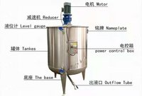 JMK-500L Jacketed Heating Mixing Kettle Electric Heating and Mixing Jacketed Stainless Steel Reactor Tank Mixer