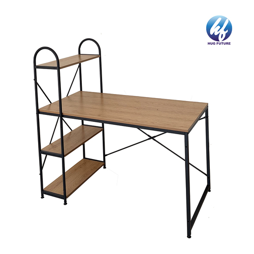 Computer Desk With Hutch And Bookshelf, 47 Inches Home Office Desk With Space Saving Design