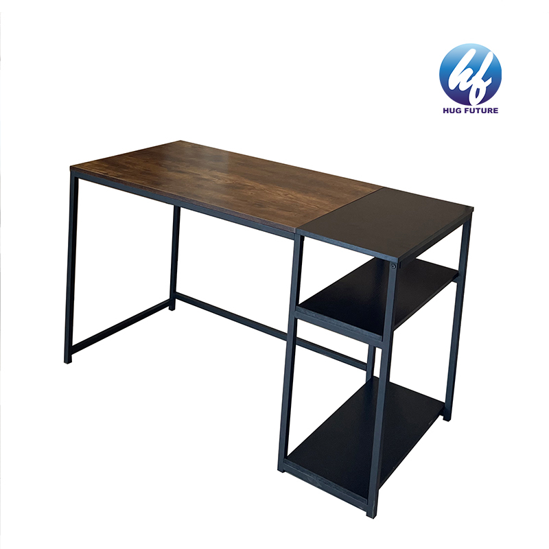 Factory Office Desk R Shaped Modern Computer Desk Pc Game Table Metal And Wood 45.3inch Gaming Desk