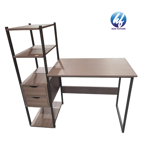 Chinese Manufacturer Multi-purpose Powder-coated Metal Steel Computer Desk Study Table With Shelf And Drawer