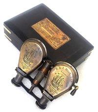 Brass Binocular With Wooden Box