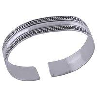 Plain Rawa Design 925 Sterling Solid Silver Bangle