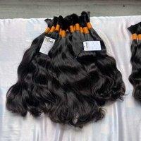 Wholesale factory price 100% natural indian bulk cuticle aligned raw human hair
